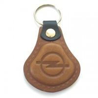 Kožená kľúčenka Opel hnedá