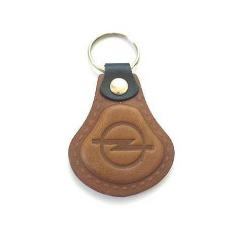 Kožená kľúčenka / prívesok na kľúče Opel hnedá