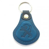 Kožená kľúčenka Peugeot modrá