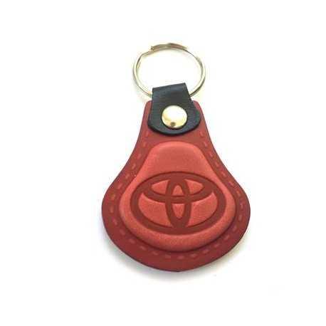 Kožená kľúčenka / prívesok na kľúče Toyota červená