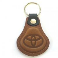 Kožená kľúčenka Toyota hnedá