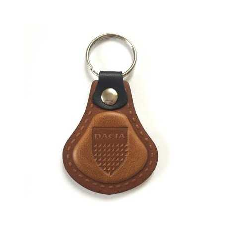 Kožená kľúčenka / prívesok na kľúče Dacia hnedá