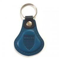 Kožená kľúčenka Dacia modrá