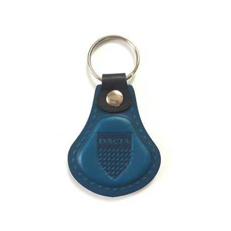 Kožená kľúčenka / prívesok na kľúče Dacia modrá
