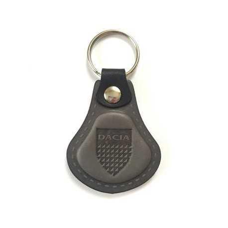 Kožená kľúčenka Dacia šedá