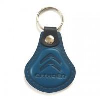 Kožená kľúčenka Citroen modrá