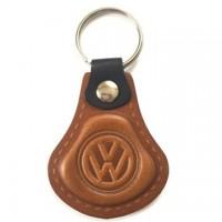 Kožená kľúčenka Volkswagen hnedá