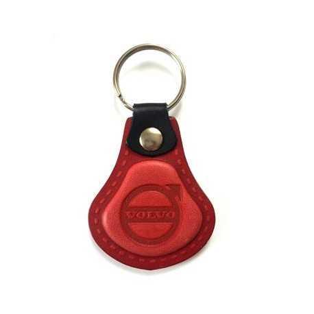 Kožená kľúčenka Volvo červená