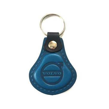 Kožená kľúčenka Volvo modrá