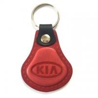 Kožená kľúčenka Kia červená
