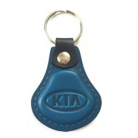 Kožená kľúčenka Kia modrá