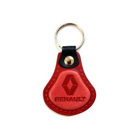 Kožená kľúčenka Renault červená