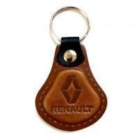 Kožená kľúčenka Renault hnedá