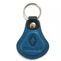 Kožená kľúčenka Renault modrá