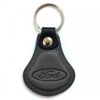 Kožená kľúčenka / prívesok na kľúče Ford šedá