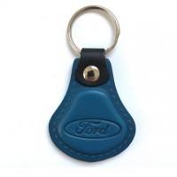 Kožená kľúčenka / prívesok na kľúče Ford modrá