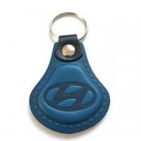 Kožená kľúčenka Hyundai modrá