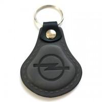 Kožená kľúčenka / prívesok na kľúče Opel sivá