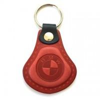 Kožená kľúčenka / prívesok na kľúče BMW červená