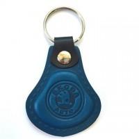 Kožená kľúčenka / prívesok na kľúče Škoda modrá
