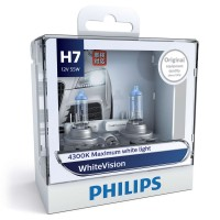 PHILIPS H7 12V sada White Vision + W5W 2ks