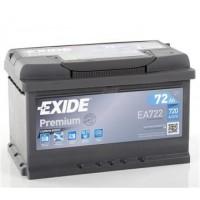 Exide Premium 12V 72Ah 720A EA722