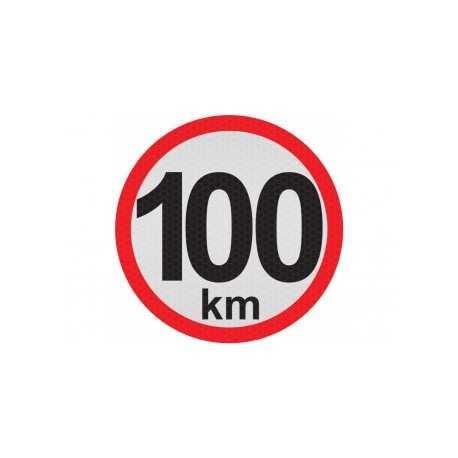 Obmedzená rýchlosť 100km, samolepka reflexná 15cm, (C5)
