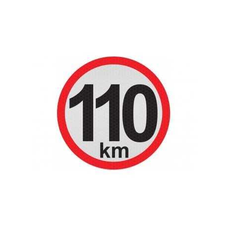 Obmedzená rýchlosť 110km, samolepka reflexná 15cm, (C5)