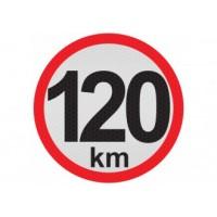 Obmedzená rýchlosť 120km, samolepka reflexná 15cm, (C5)