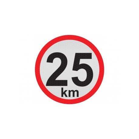 Obmedzená rýchlosť 25km, samolepka reflexná 15cm, (C5)
