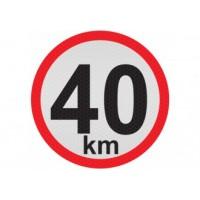 Obmedzená rýchlosť 40km, samolepka reflexná 15cm, (C5)
