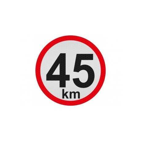 Obmedzená rýchlosť 45km, samolepka reflexná 15cm, (C5)