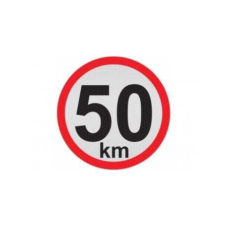 Obmedzená rýchlosť 50km, samolepka reflexná 15cm, (C5)