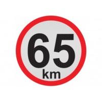 Obmedzená rýchlosť 65km, samolepka reflexná 15cm, (C5)