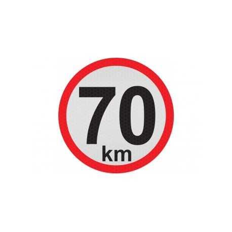 Obmedzená rýchlosť 70km, samolepka reflexná 15cm, (C5)