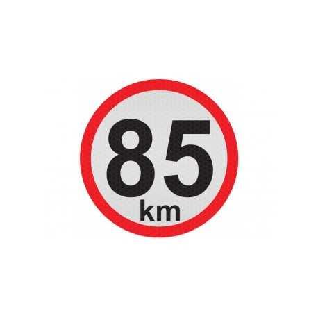 Obmedzená rýchlosť 85km, samolepka reflexná 15cm, (C5)