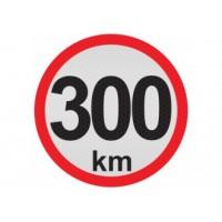 Obmedzená rýchlosť 300km, samolepka reflexná 15cm, (C5)