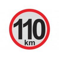 Obmedzená rýchlosť 110km, samolepka reflexná 20cm, (C6)