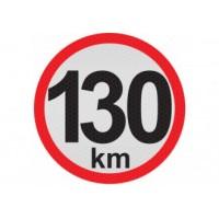 Obmedzená rýchlosť 130km, samolepka reflexná 20cm, (C6)