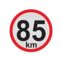 Obmedzená rýchlosť 85km, samolepka reflexná 20cm, (C6)