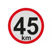Obmedzená rýchlosť 45km, samolepka reflexná 20cm, (C6)